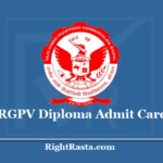 RGPV Diploma Admit Card 2020 (Out) Download 8th Semester Hall Ticket