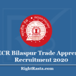 SECR Bilaspur Trade Apprentice Recruitment 2020 - Apply Online For 432 Posts