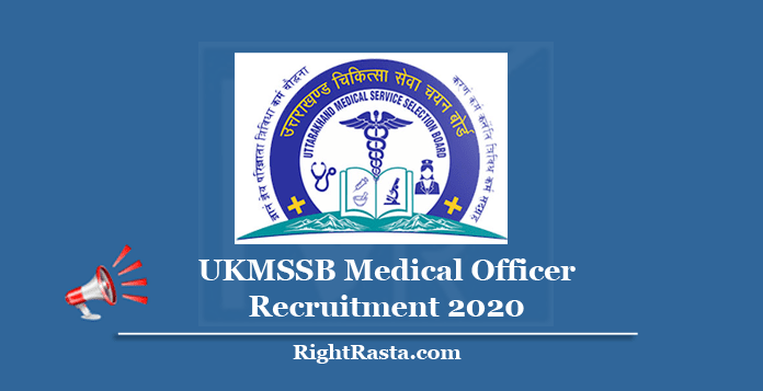 UKMSSB Medical Officer Recruitment 2020