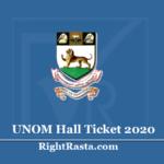 UNOM Hall Ticket 2020 (Out) - Download Madras University Exam Admit Card