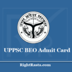 UPPSC BEO Admit Card 2020 (Out) Download UP Block Education Officer Hall Ticket