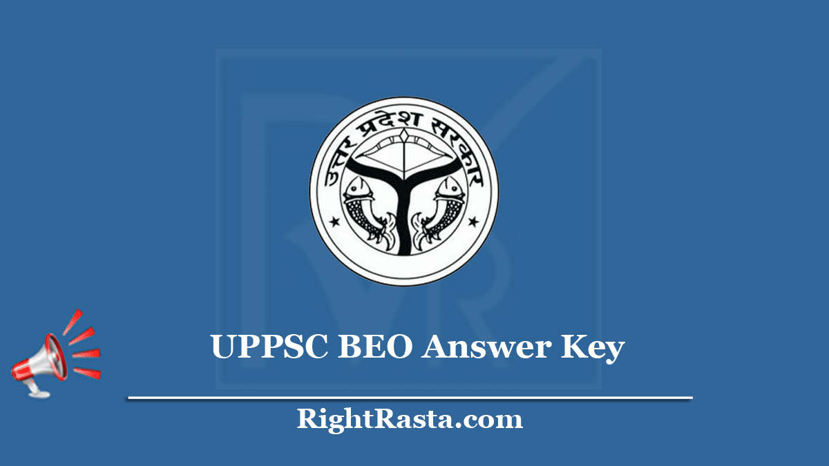 UPPSC BEO Answer Key 2020 (Out) Download Block Education Officer