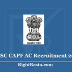 UPSC CAPF AC Recruitment 2020 (Out) Apply for Assistant Commandant Exam