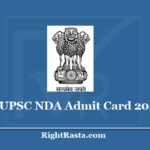 UPSC NDA Admit Card 2020 - Download National Defence Academy 1 & 2 Hall Ticket