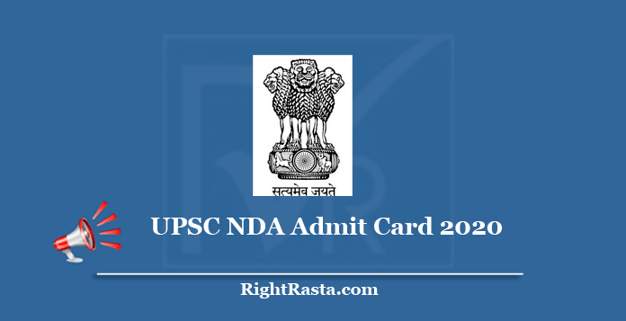 UPSC NDA Admit Card 2020