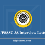 UPSSSC JA Interview Letter 2020 (Out) Download Junior Assistant Call Letter