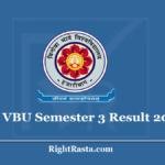 VBU Semester 3 Result 2020 (Out) Vinoba Bhave University 3rd Sem Results @ www.vbu.ac.in
