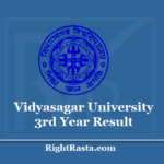 Vidyasagar University 3rd Year Result 2020 (Out) VU BA BSC BCOM Part 3 Results