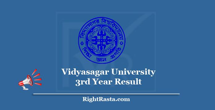 Vidyasagar University 3rd Year Result