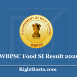 WBPSC Food SI Result 2020 (Out) Download WB Sub Inspector Exam Merit List