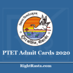 PTET Admit Card 2020 (Out) - Download Rajasthan Pre B.Ed. Entrance Test Hall Ticket