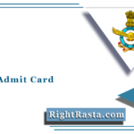 AFCAT Admit Card 2021 (Out) | Download Indian Air Force 01/2021 Hall Ticket