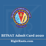BITSAT Admit Card 2020 (Out) - Download BITS Pilani Entrance Exam Hall Ticket