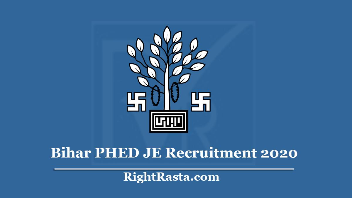 Bihar PHED JE Recruitment