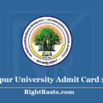Bilaspur University Admit Card 2020 (Out) Download BU Hall Ticket