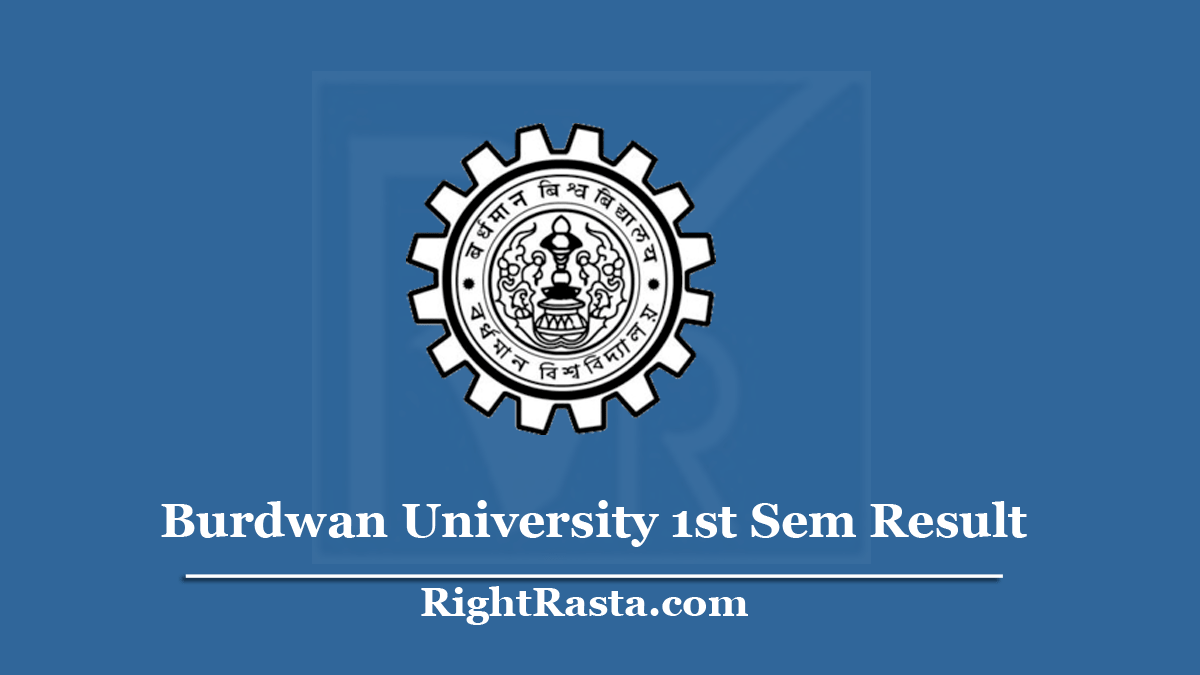 Burdwan University 1st Sem Result