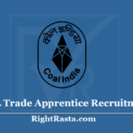 CCL Trade Apprentice Recruitment 2020 (Last Date) Apply For Central Coalfield Vacancy