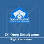 CG Open School Result 2020 (Out) - Chhattisgarh Board CGSOS 10th & 12th Results