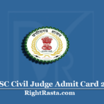 CGPSC Civil Judge Admit Card 2020 (Out) | Chhattisgarh CJ Prelims Hall Ticket