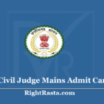 CGPSC Civil Judge Mains Admit Card 2020 (Out) Download CJ Main Exam Hall Ticket