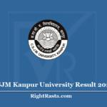 CSJM Kanpur University Result 2020 (Out) KU BA BSC BCOM MA MSC MCOM Results