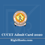 CUCET Admit Card 2020 (Out) - Download Central University Admission Test Hall Ticket