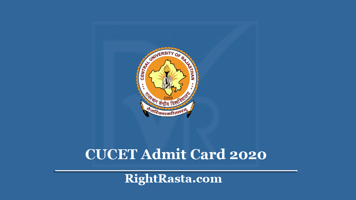 CUCET Admit Card