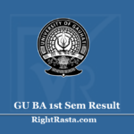 GU BA 1st Sem Result 2020 (Out) - Guwahati University B.A. Semester 1 Exam Results @ www.gauhati.ac.in: