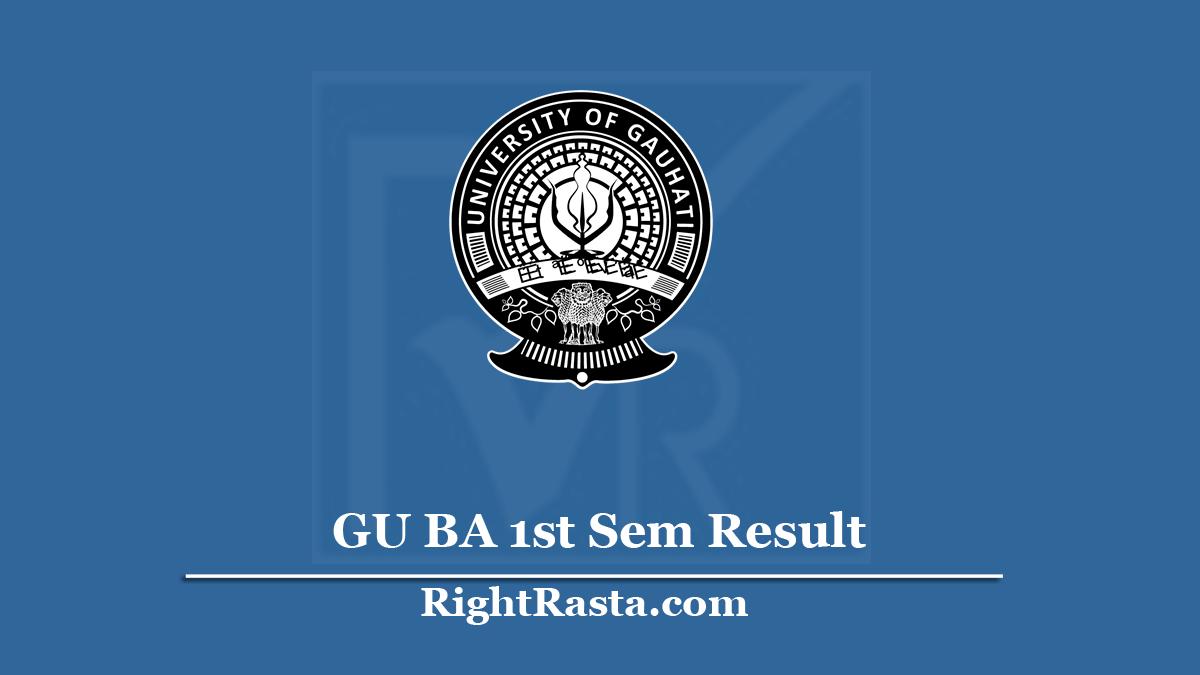 GU BA 1st Sem Result