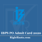 IBPS PO Admit Card 2020 (Out) - Download CRP PO/MT-X Prelims Exam Hall Ticket