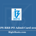 IBPS RRB PO Admit Card 2020 (Out) - Download Officer Scale I Prelims Exam Hall Ticket