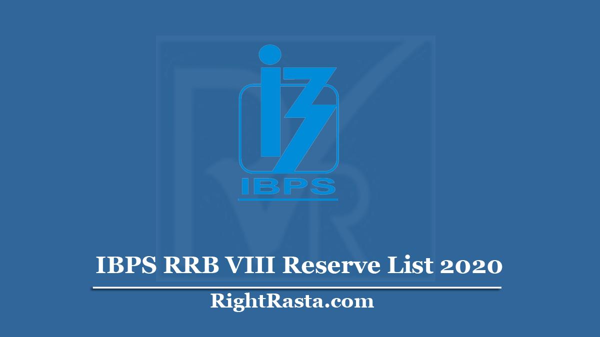 IBPS RRB VIII Reserve List