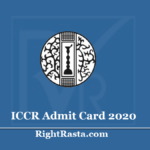 ICCR Admit Card 2020 (Out) Download LDC, Stenographer, & APO Hall Ticket