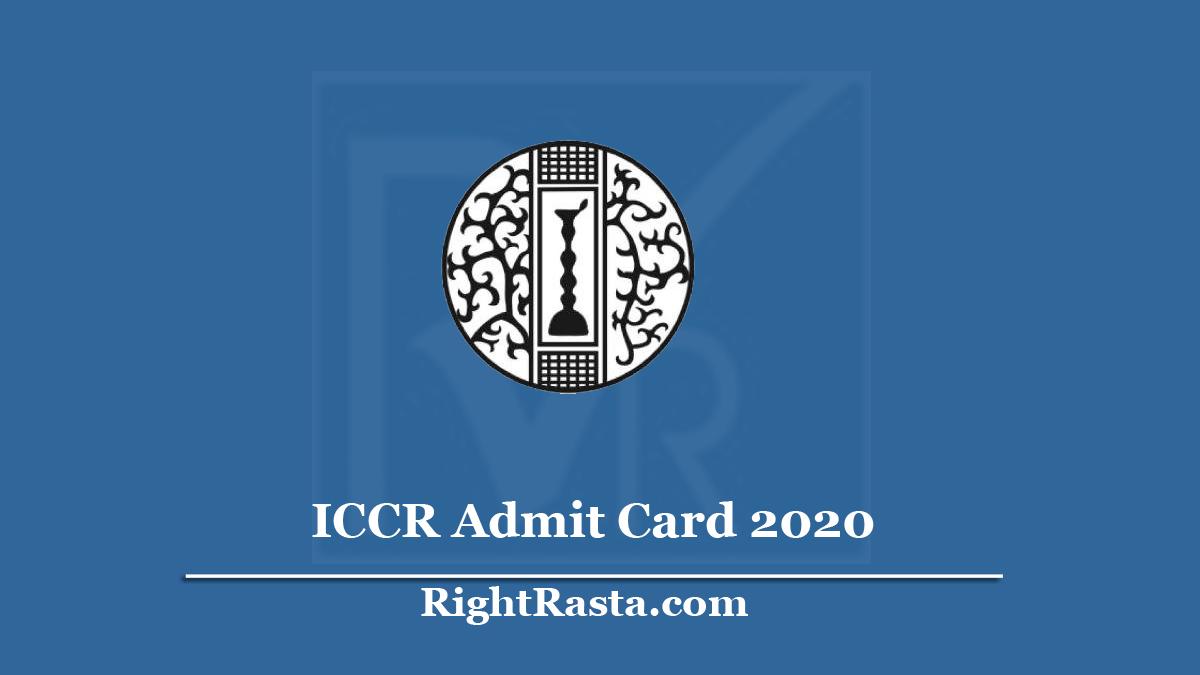 ICCR Admit Card 2020