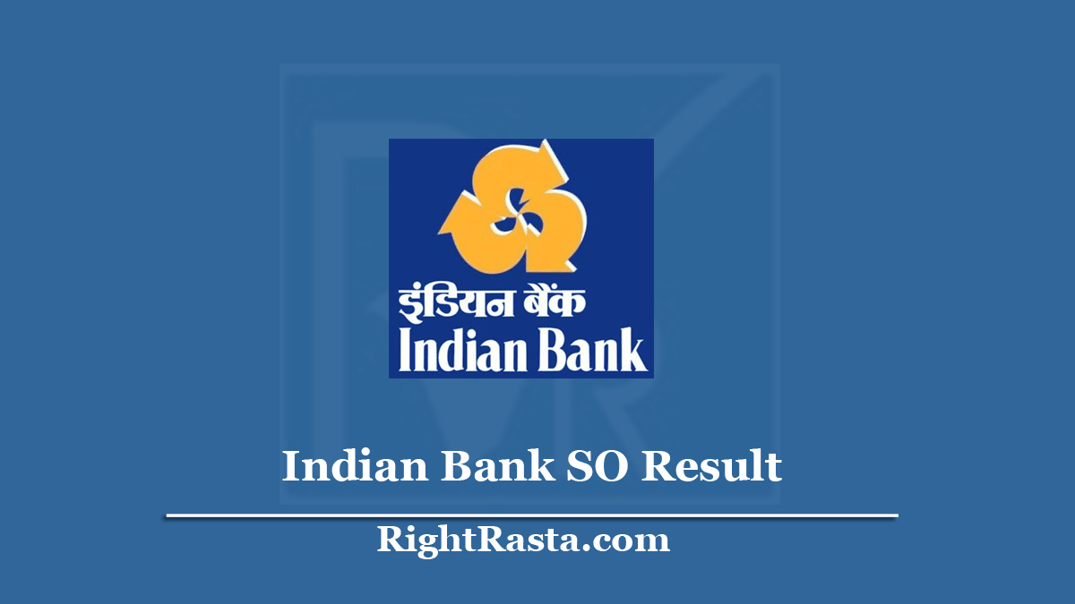 Indian Bank SO Result
