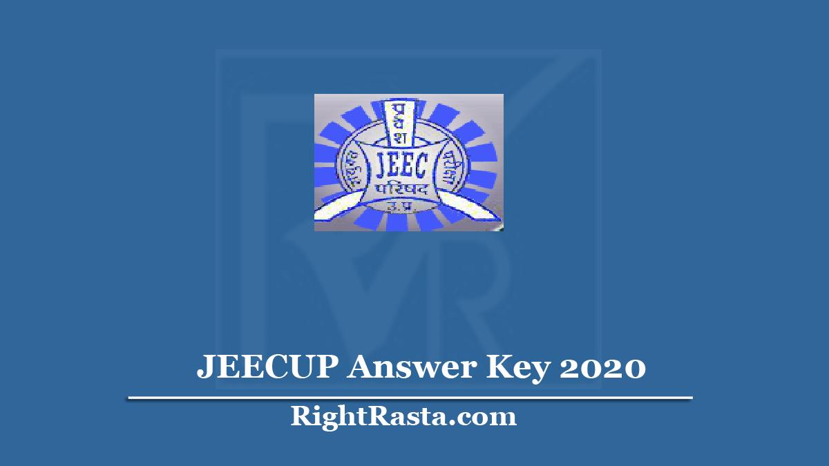 JEECUP Answer Key