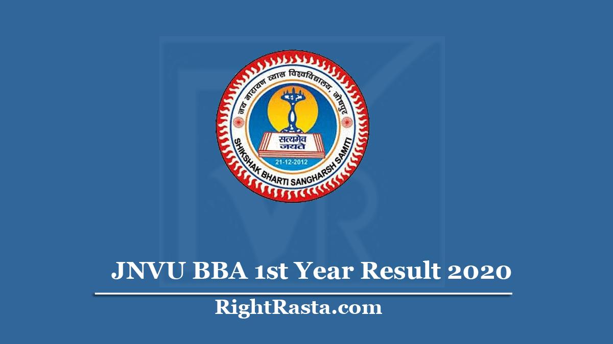 JNVU BBA 1st Year Result