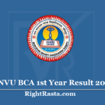JNVU BCA 1st Year Result 2020 (Out)- Download Jai Narain Vyas University B.C.A. Results