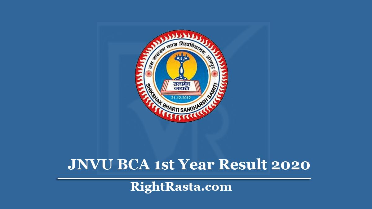 JNVU BCA 1st Year Result