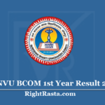 JNVU BCOM 1st Year Result 2020 (Out) - Download Jodhpur University B.Com Results