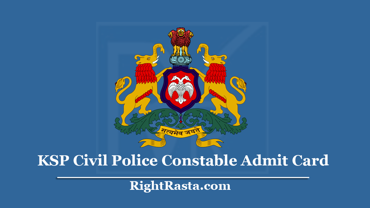 KSP Civil Police Constable Admit Card