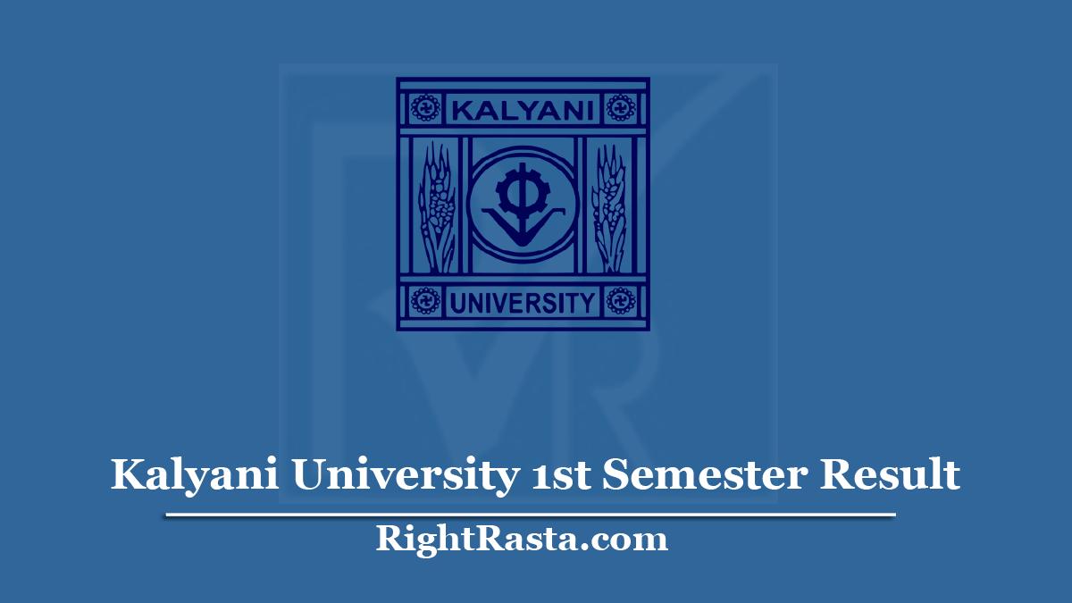 Kalyani University 1st Semester Result