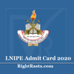 LNIPE Admit Card 2020 (Out) - Download BPED, MPED Online Entrance Exam Hall Ticket
