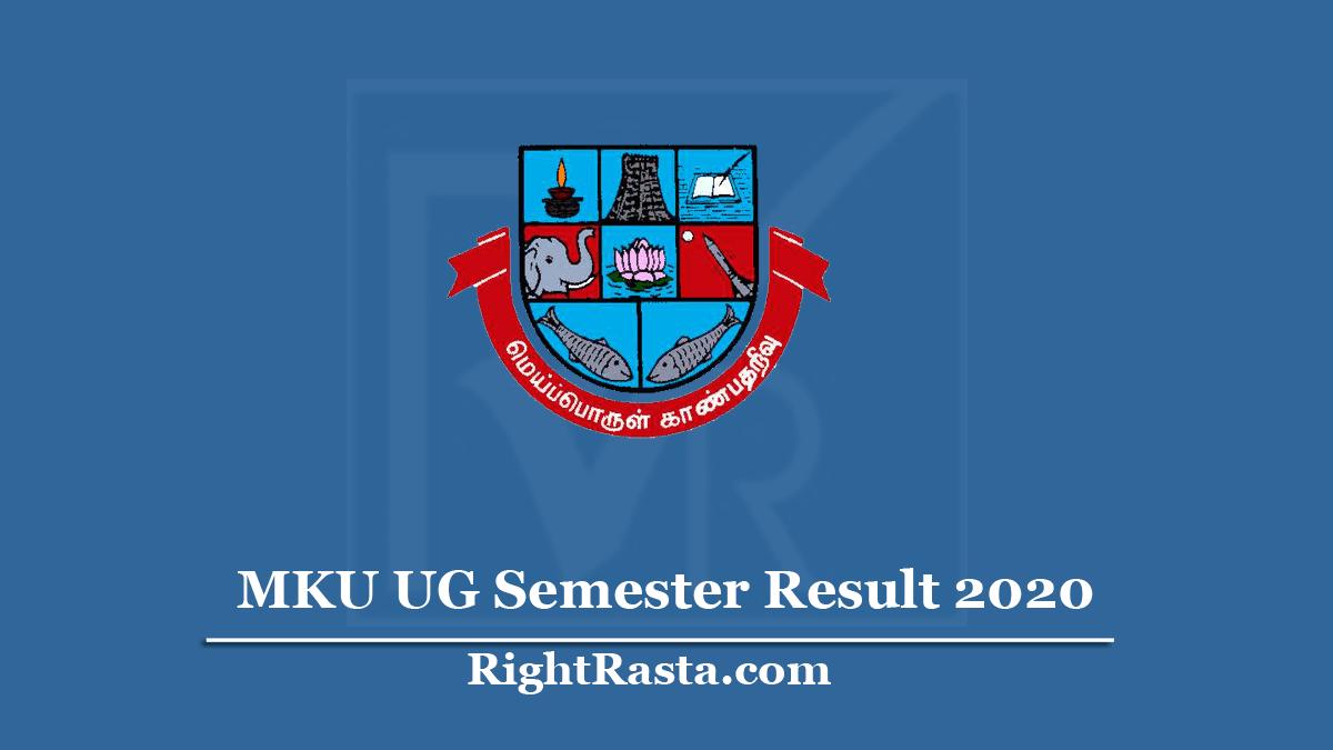 MKU UG Semester Result