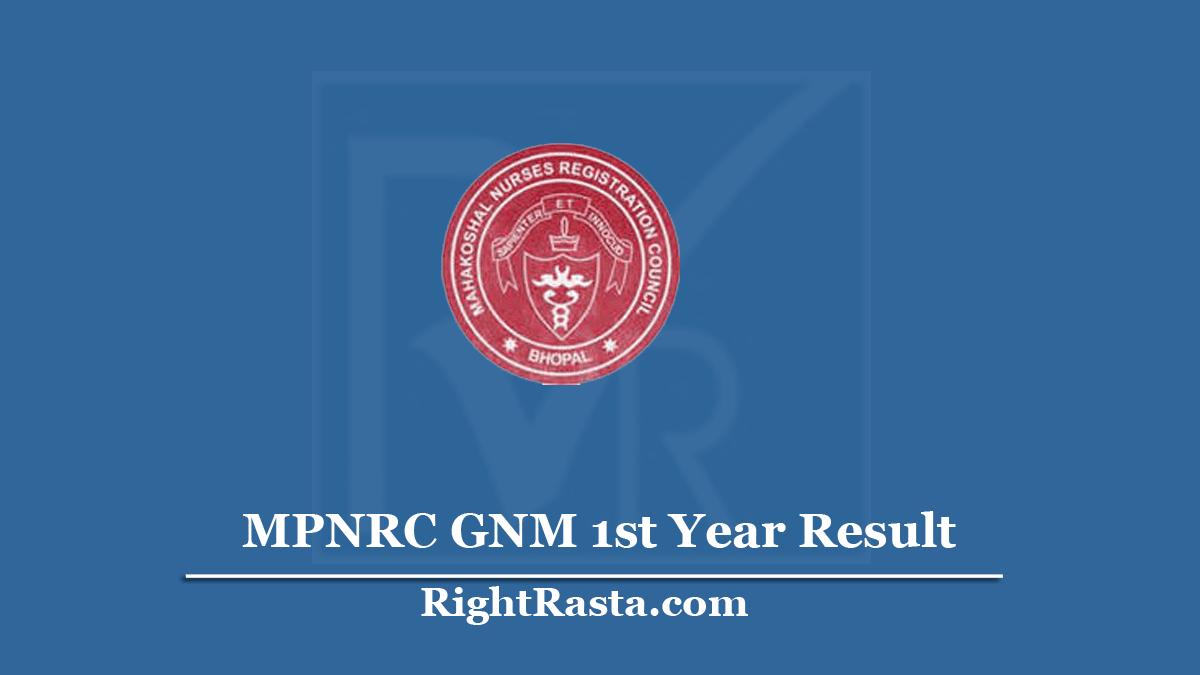 MPNRC GNM 1st Year Result