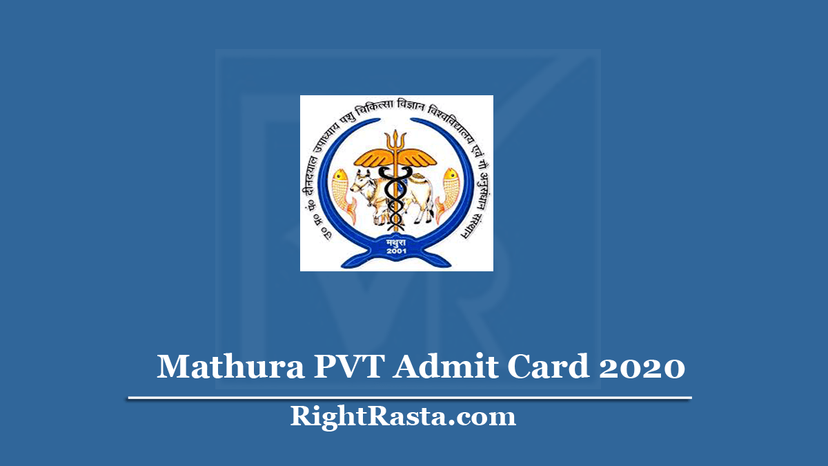 Mathura PVT Admit Card
