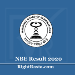 NBE Result 2020 (Out) Senior & Junior Assistant, Junior Accountant, Stenographer Merit List
