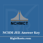 NCHM JEE Answer Key 2020 (Out) - Hotel Management Joint Entrance Test Solution Key