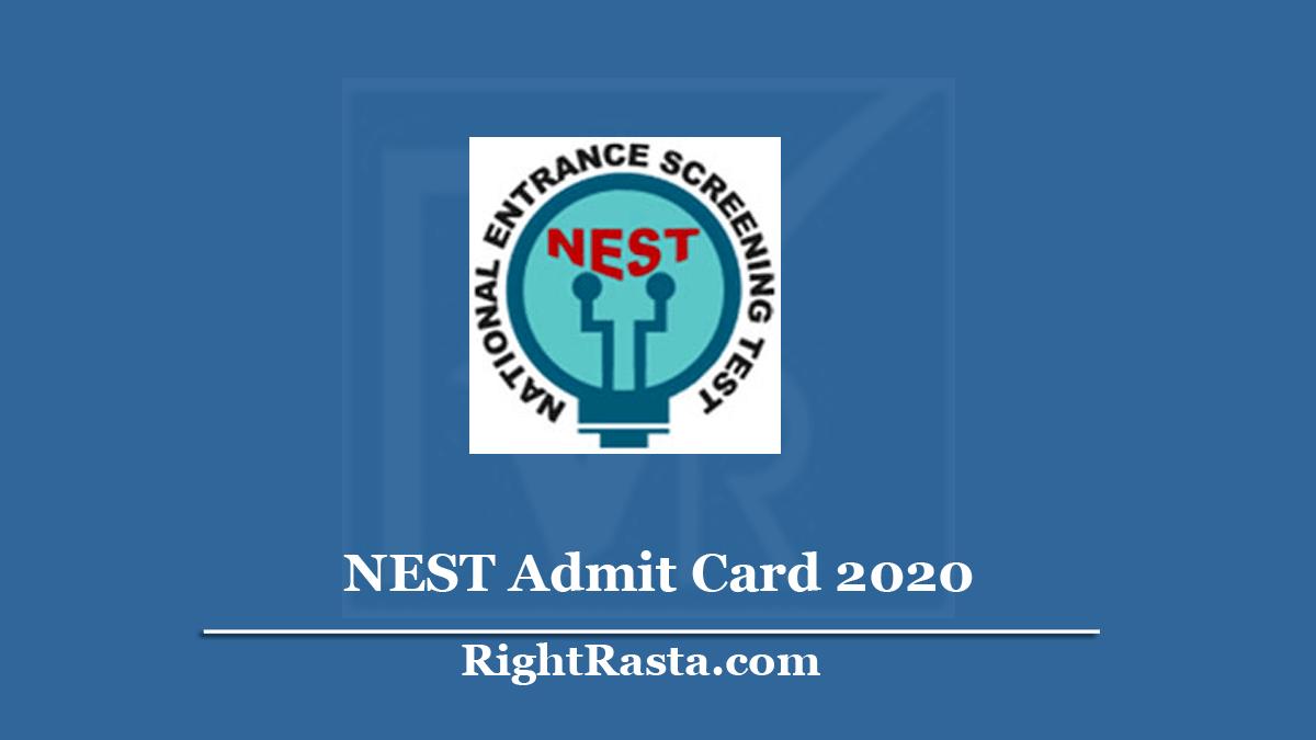 NISER NEST Admit Card