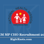NHM MP CHO Recruitment 2020 (Apply Online) - Apply For NRHM Community Health Officer